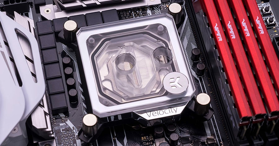 EK Velocity water block Nickel Plexi
