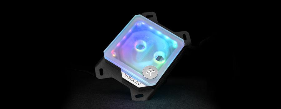 EK-Velocity D-RGB AMD nickel plexi frosted