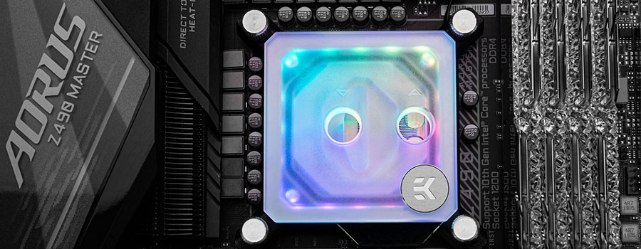 EK-Velocity D-RGB Intel nickel plexi frosted
