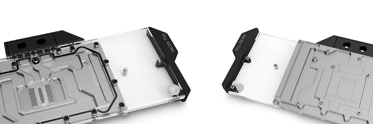 EKWB EK-Quantum Vector Trio RTX 3080/3090 RGB - Nickel + Plexi GPU Water Block - Desktop Overview 2