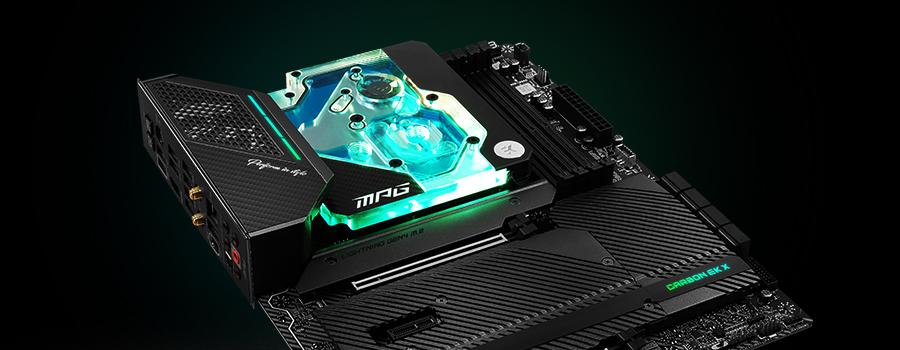 MSI MPG X570 Carbon EK X motherboard + monoblock combo
