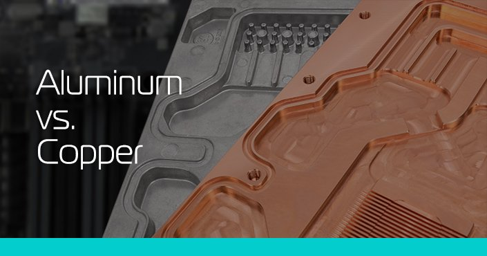 Aluminum vs  Copper liquid cooling parts - ekwb com