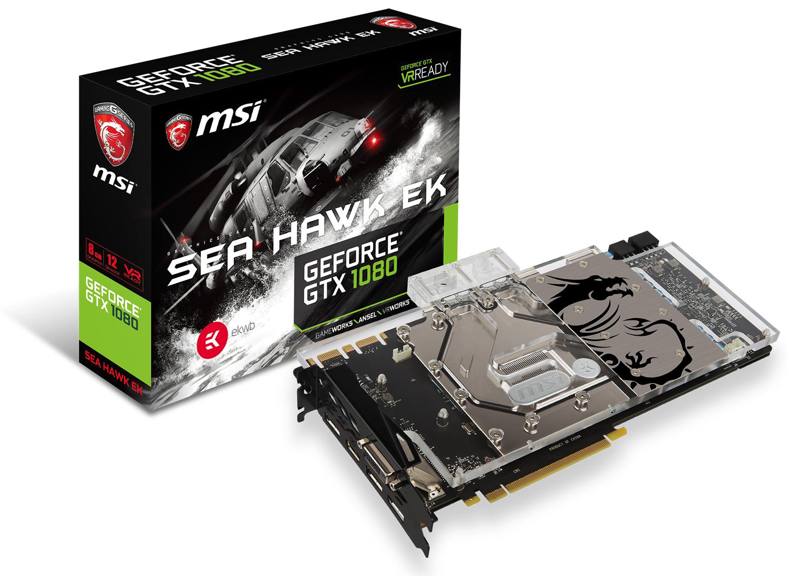 MSI® unveils their new GeForce® GTX 1080 graphics card, SEA HAWK EK