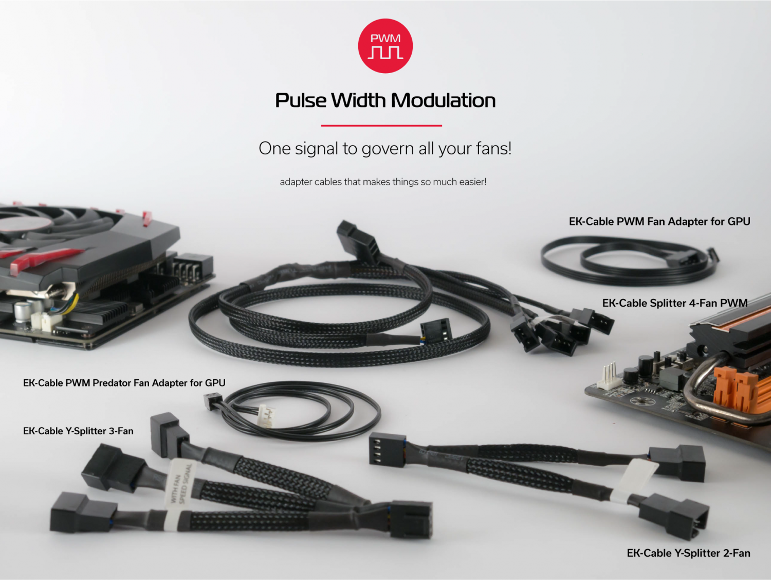 Useful Pwm Cables Fan Power 3pin To 2pin Y Cable Splitter Extension Wire On The Cool Thing About Regulation Is That You Can Use One Signal Govern All Of Your Fans So Why Not From A Gpu Do
