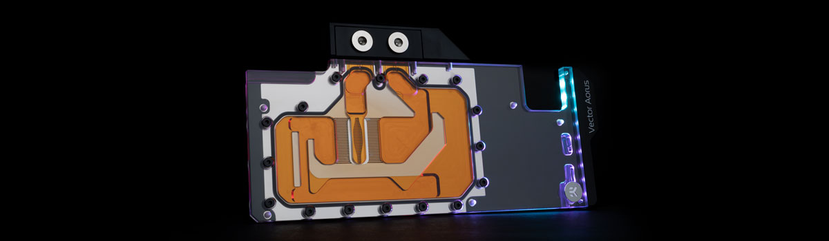 EK Quantum Vector Aorus RTX GPU water blocks D-RGB