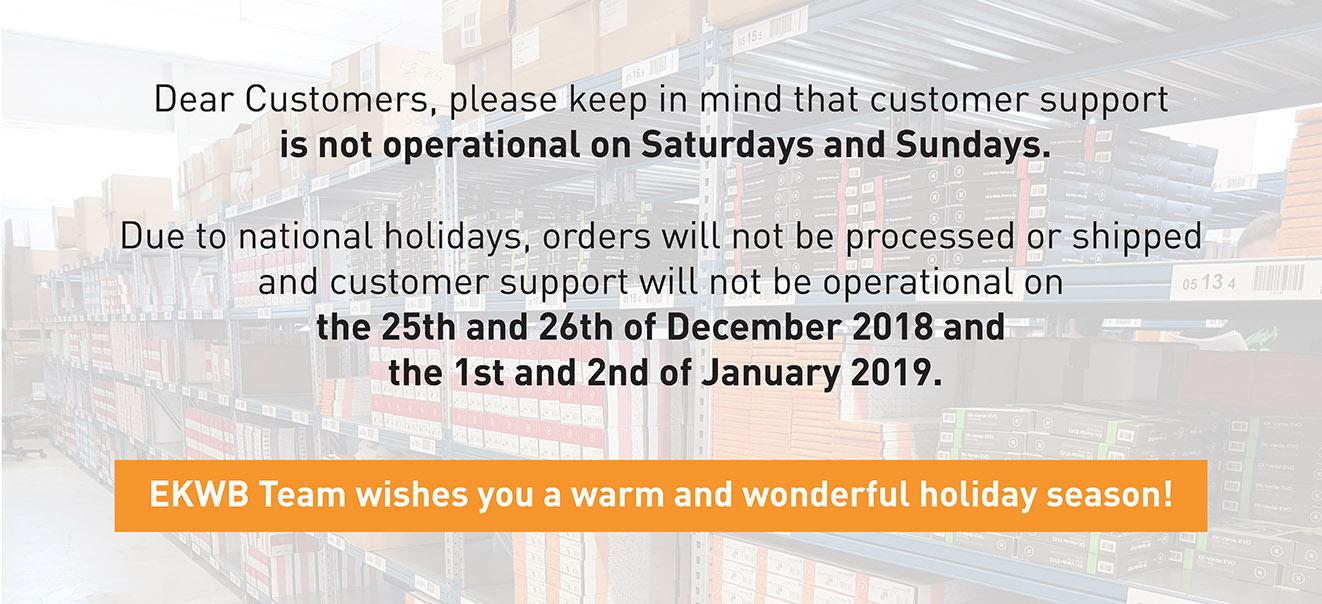 EKWB support holidays