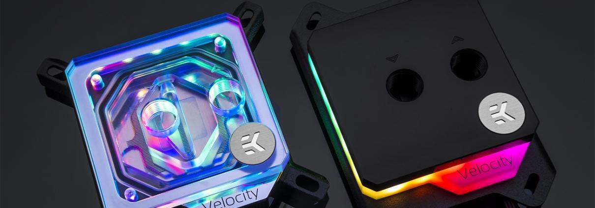 EK is releasing Velocity D-RGB CPU blocks with ultimate LED