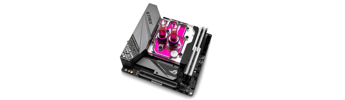 EK Releases EK-Momentum ROG Strix Z390-I Monoblock for the mini-ITX