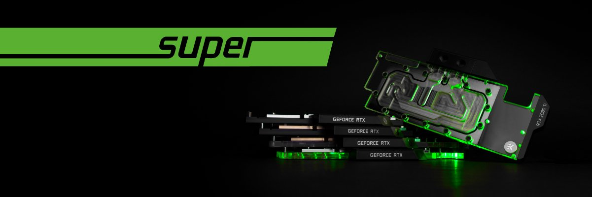 EK Vector water blocks compatible with Nvidia Super cards