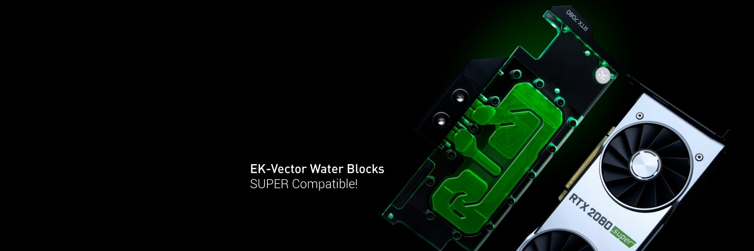 EK Vector water blocks compatible with SUPER cards