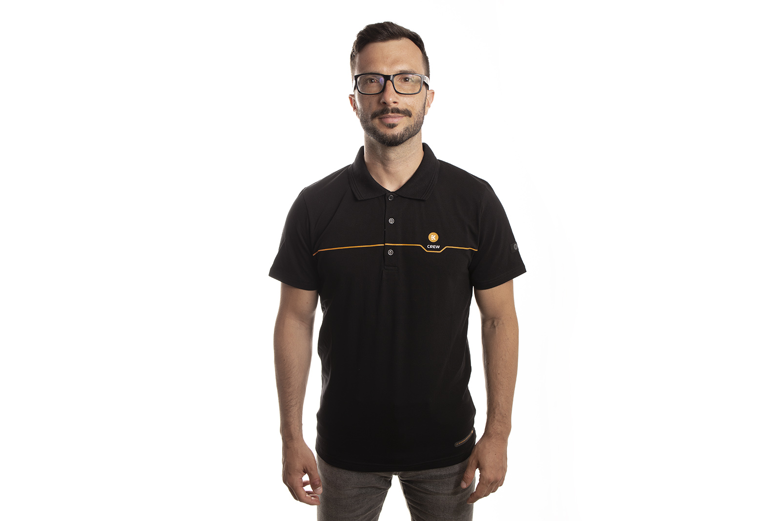 EK-Crew_Men's_Black_Polo_1