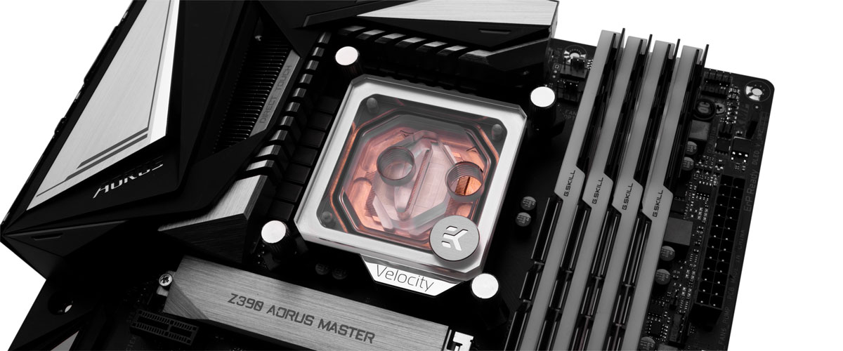 does rotating the water block improve temps