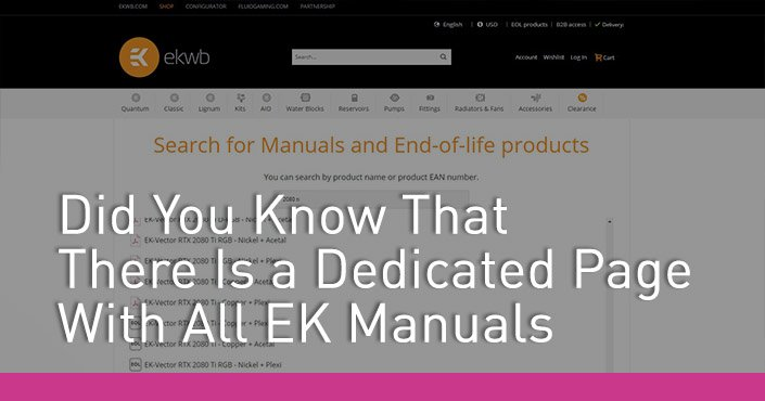 Did You Know That There Is Dedicated Page With All EK Manuals
