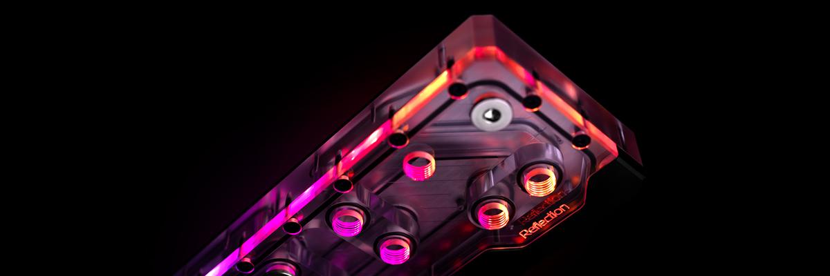 EK Quantum Reflection Distro plate for Phanteks Evolv P600s