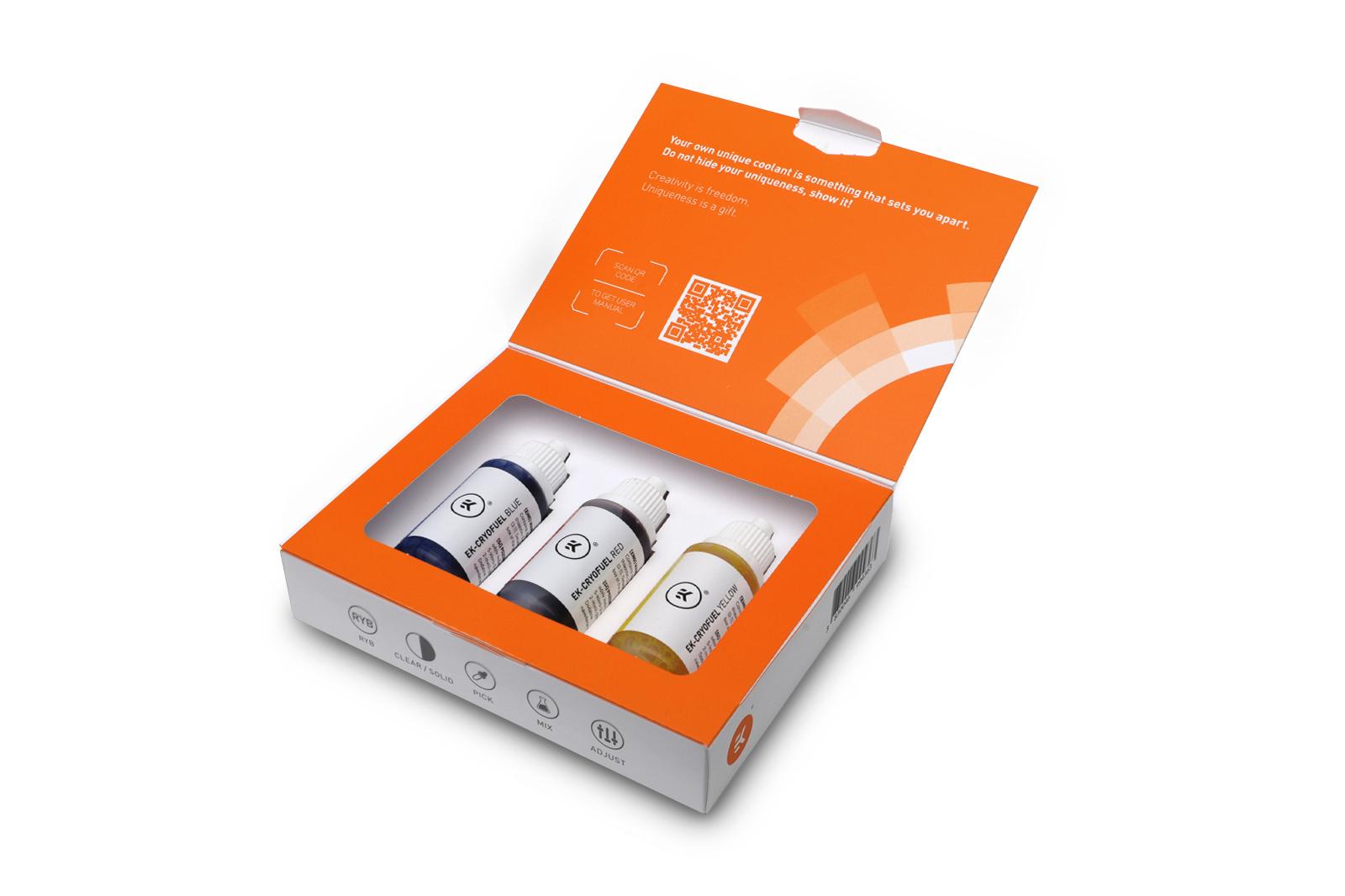 EK-Quantum Power Kit - cryofuel-dye_pack-box-open