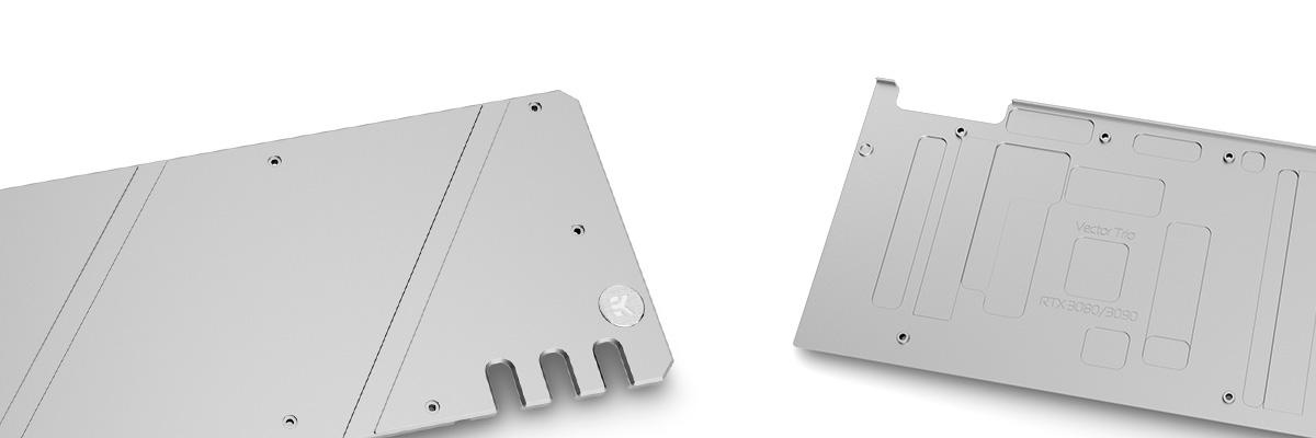 Backplate for EK Quantum Vector Trio RTX 3080 and 3090 GPU water blocks