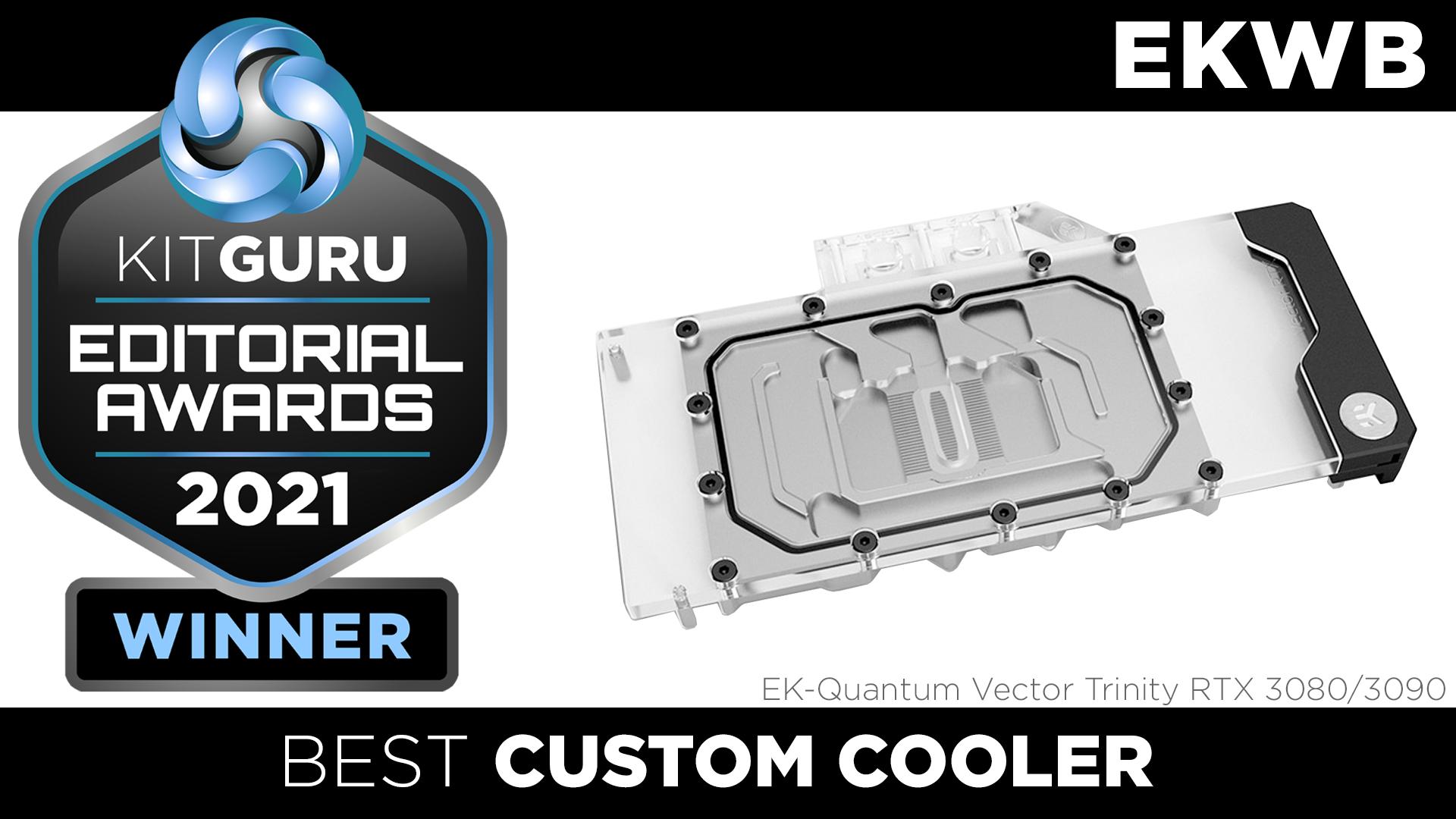 EK Quantum Vector Trinity RTX 3080 3090 water block wins Kitguru award